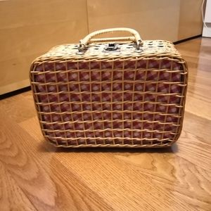 Vintage wicker basket bag
